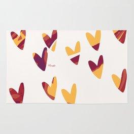 Pretty swirl hearts - magenta, yellow, fuchsia Rug