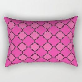 Quatrefoil - Pink & Black Rectangular Pillow