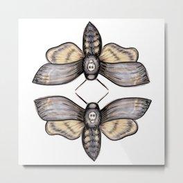 Death's Head Hawkmoth Pattern - Katrina Niswander Metal Print