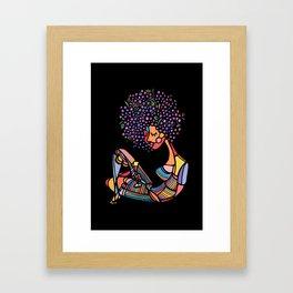 Black Afro Framed Art Print