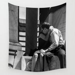 Woman Grieving in a Man Chest Wall Tapestry