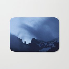 Mont Blanc Massif at night Bath Mat