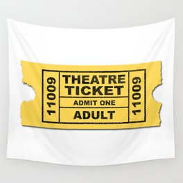 Theatre Ticket Wall Tapestry