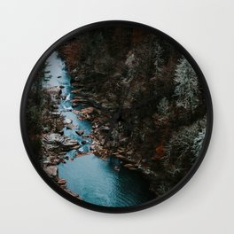 Blue Creek #landscape #society6 Wall Clock