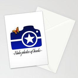 I take photos of books-Blue Stationery Cards