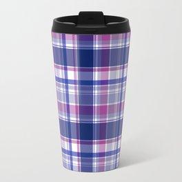Blue and purple Tartan (Scotch) Pattern Travel Mug