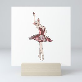 Pig Ballerina Tutu Mini Art Print