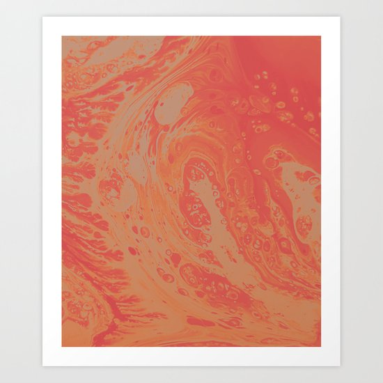 Orange Dream Art Print