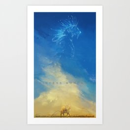 Princess Mononoke - Ashitaka and the Nightwalker Art Print