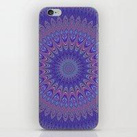 mandala iPhone & iPod Skins featuring Purple mandala by David Zydd