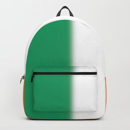 Green White and Orange Ombre Shaded Irish Flag Backpack
