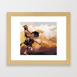 Horse braid (Kuda lumping) Framed Art Print