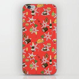 Christmas food festive pattern iPhone Skin