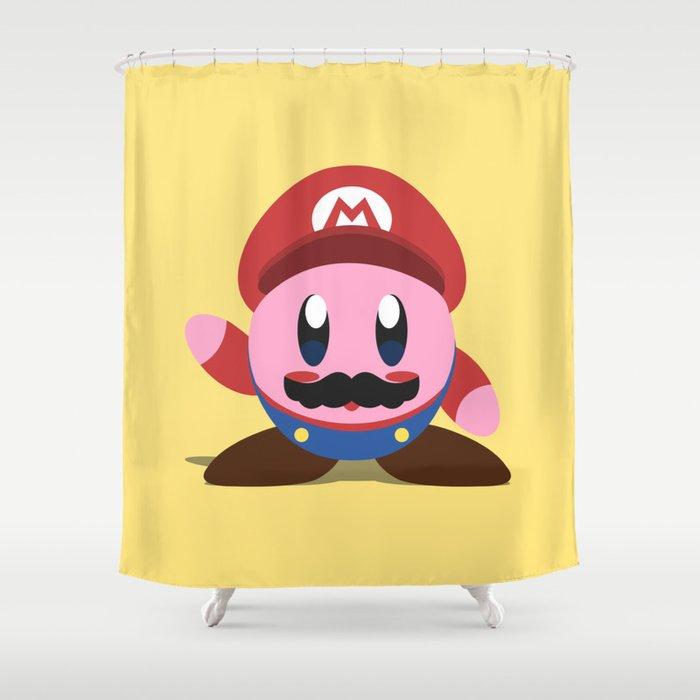 Kirby Mario Shower Curtain