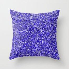 Indigo Shamrocks Pattern Throw Pillow