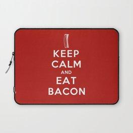 Keep calm and eat bacon Laptop Sleeve