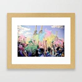 Holi Festival Of Colours Framed Art Print