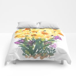 Spring Daffodil Patch Comforters