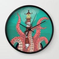 sleep Wall Clocks featuring Sleep by Arron Croasdell