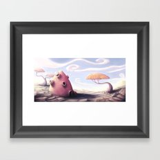 Bubble house Framed Art Print