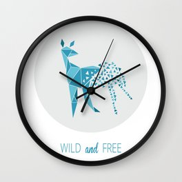 Wild & Free Deer Wall Clock