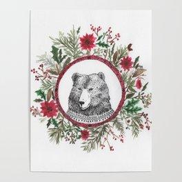 oso navidad Poster