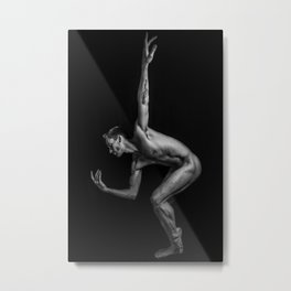 Ballet Strength Metal Print