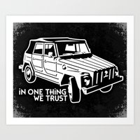 VW 181 - In one Thing we trust (white) Art Print