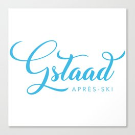 GSTAAD Canvas Print