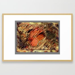 heart of the matter Framed Art Print