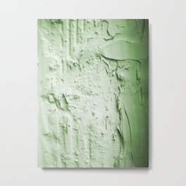 Damaged wall pic in background with green color, ready for clothes,furnitures, iphone cases Metal Print