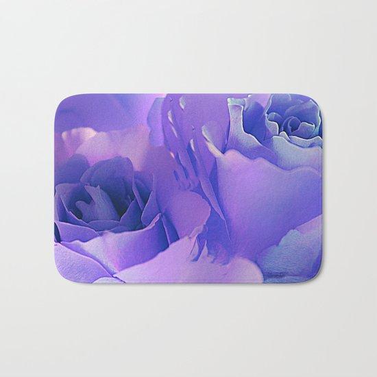 Painterly Lavender Roses Bath Mat