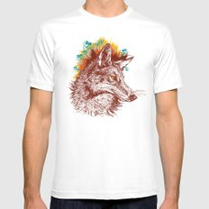 coyote White Mens Fitted Tee MEDIUM