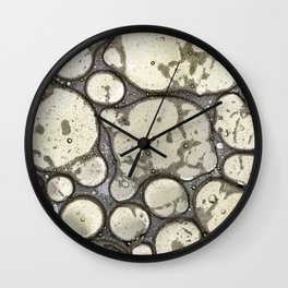 Oil on Water Bubble Abstract II Wall Clock