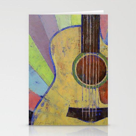Sunrise Guitar Stationery Cards
