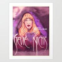 "stevie nicks Art Prints featuring Stevie Nicks' ""The Wild Heart"" by Monica Lara Art"