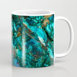 Teal Oil Slick and Gold Quartz Coffee Mug