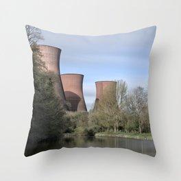 The Ironbridge Power Station Throw Pillow
