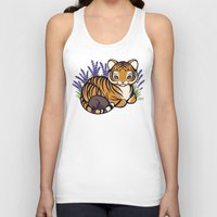 platypus Tank Tops featuring Loafing Tiger, Hidden Platypus by Spoopy Surprise