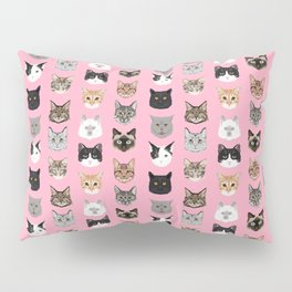 Cats Cats Cats purrfect gift present for cat lover cat lady cat man all cat breeds by pet friendly Pillow Sham