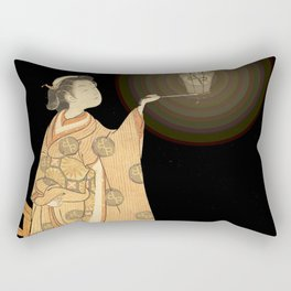 Japanese Cherry Blossom Japanese Woodblock Art Print Night Lamp Rectangular Pillow