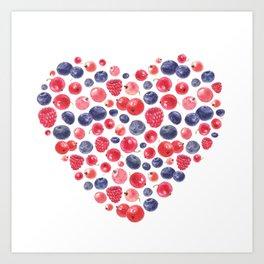 Berry Love Art Print