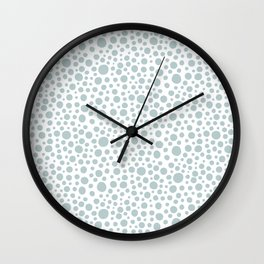 Hand drawn polka dot pattern - Green Wall Clock