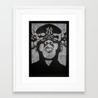 jay z Framed Art Prints featuring Jay-Z by Bianca Burrows