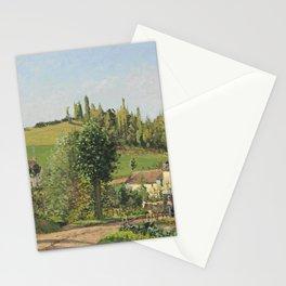 """Camille Pissarro """"Hameau aux environs de Pontoise"""" (1872) Stationery Cards"""