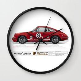 1968 Porsche 911L Factory Race Car Wall Clock