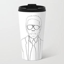 Karl Lagerfeld portrait Travel Mug