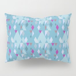 Rhombuses on green-blue background, abstract seamless pattern Pillow Sham