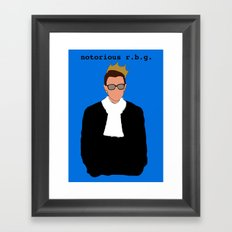 Notorious R.B.G. Framed Art Print