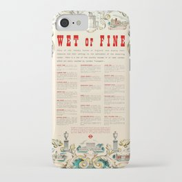 cartellone Wet or Fine LT Dorothy Hutton iPhone Case